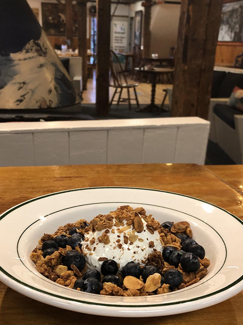 The Round Hearth Cafe Yogurt, Granola and Fruit Bowl Stowe